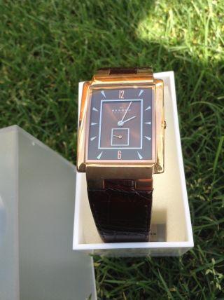 Skagen Uhr Unisex Modell,  Rechteckig,  Rosègold Bild