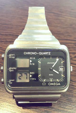 Seamaster Omega Chronograph Quartz Schweiz 1976 Bild