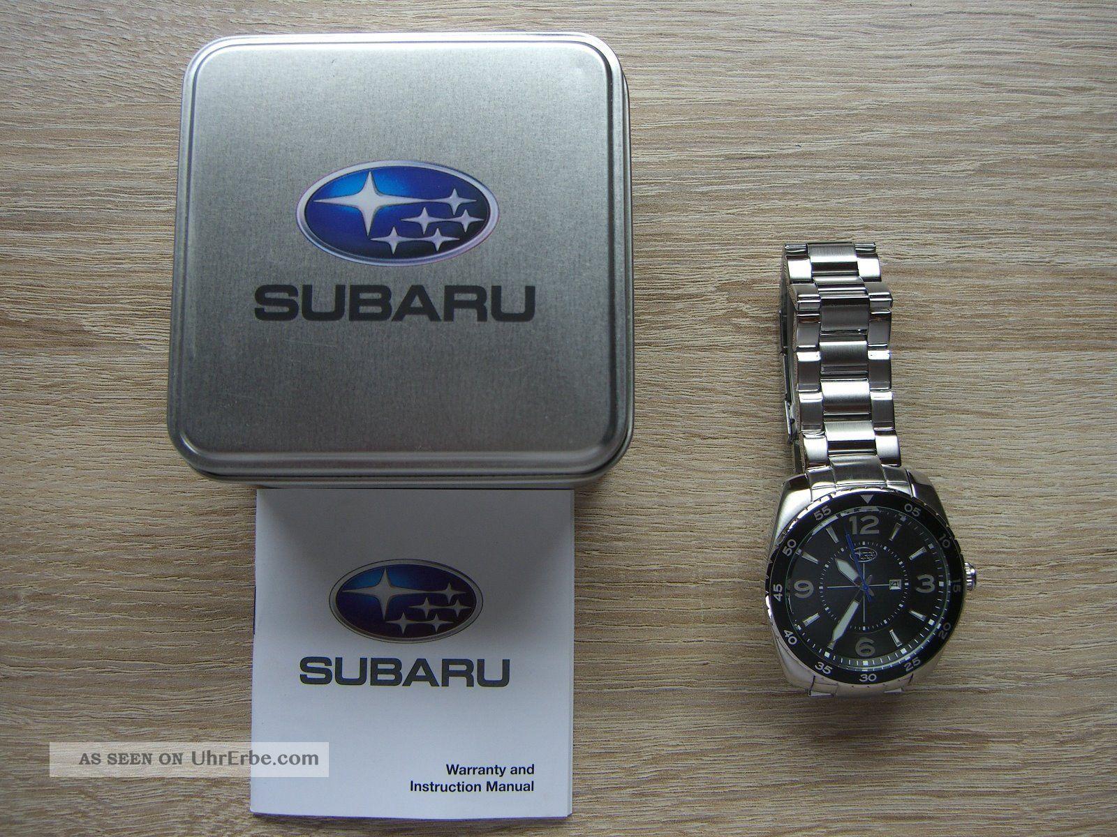 Orginal Subaru Uhr Edelstahl Armbanduhren Bild