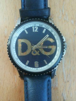 Dolce & Gabbana Uhr Armbanduhr Blau Navy Echtleder Luxus Bild