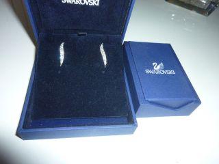Swarovski Ohrringe Silbern Mit Steinchen In Ovp Bild