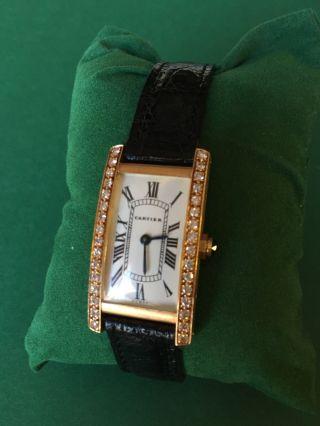 Cartier Tank 18k Mit Diamanten Bild