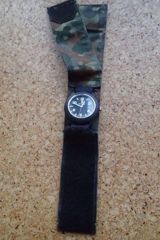 Victorinox Armbanduhr Militär Bundeswehr Tarndruck T - Swiss Water Resistant 166ft Bild