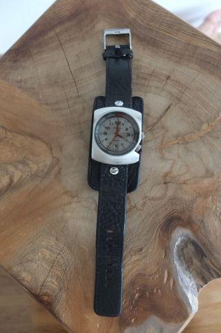 Diesel Armbanduhr Schwarz/silber Lederarmband Bild