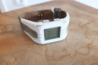 Diesel Armbanduhr Weiss/beige Lederarmband Bild