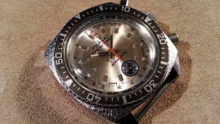 Vintage Ruhla Taucheruhr Chronograph Diver Made In Ddr Fuer Bastler For Repair Bild