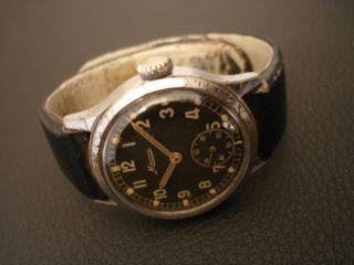 Minerva Dienstuhr Militär Uhr Dh Wk 2 Ww Ii Military Watch Germany Handaufzug Bild