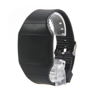 Mode Männer Digital Led Touch - Sport - Armband - Armbanduhr - Geschenk Schwarz Farben Bild