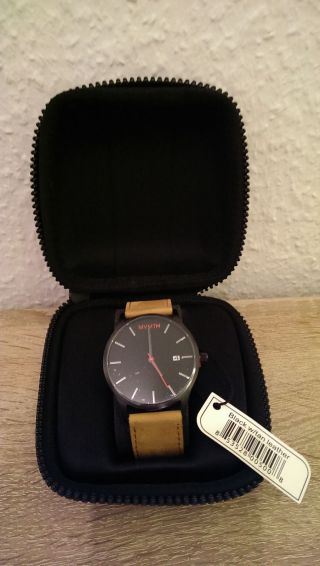 Mvmt Watch Black/tan Leather Bild