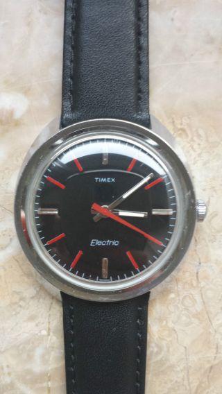 Timex Electric Armbanduhr Selten Rar Vintage Lederband Bild