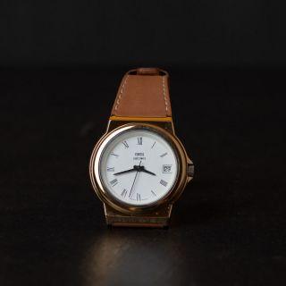 Fortis Armbanduhr | Messingfarben | Lederarmband Bild