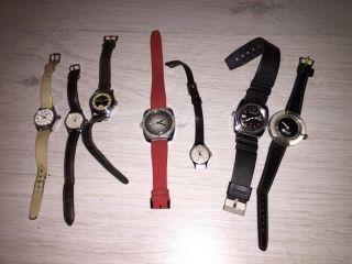 Alte Uhren Armbanduhr 7 Stück Passat Timex Criterion Und Weitere Bild