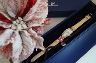 ,  Swarovski,  Uhr Beige Watch Mit Extra Armband Orig.  Und In Ovp Bild