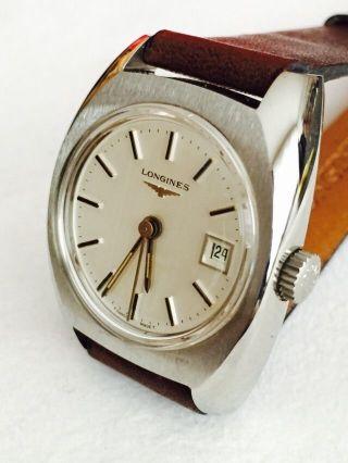 Vintage Longines Armbanduhr Handaufzug Schweiz 1960 Bild