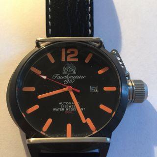 Tauchmeister Uhr T0134 U - Boot Automatik Date Militär Xl Retro - Taucher Bild