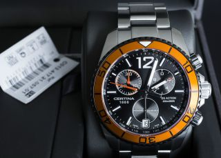 Certina Ds Action Chronograph 200m Orange Neuwertig Bild