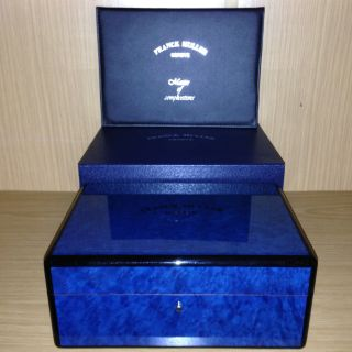 Franck Muller Uhrenbox Etui Uhren Box Watchbox Uhrenschatulle Blau Bild