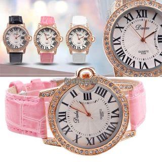 Fr Damenarmbanduhr Roman Dial Rose Gold Uhr Armbanduhr Uhren Quarzuhr Watch Mode Bild