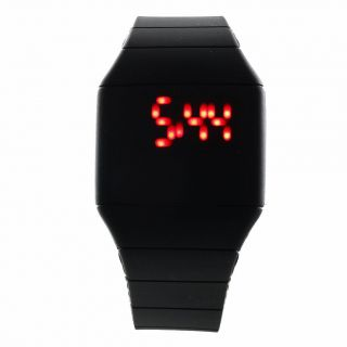 Fashion Coole Männer Luxus Black Dial Black Rubber Strap Sport - Armbanduhr Bild