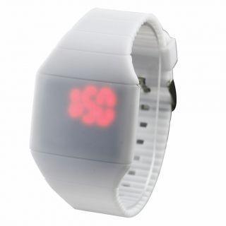 Fashion Coole Männer Luxus Weiß Dial Black Rubber Strap Sport - Armbanduhr Bild