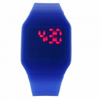 Fashion Coole Männer Luxus Blau Dial Black Rubber Strap Sport - Armbanduhr Bild