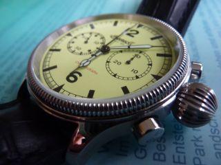 Ingersoll Chronograph Wells Fargo Handaufzug Asiatisches Venuswerk Fliegeruhr Bild