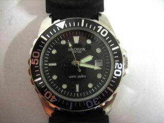 Madison York - Armbanduhr - White Shark In Schwarz Bild