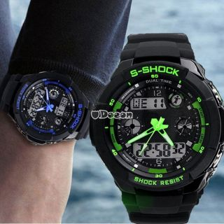 Multi - Function S - Shock Led Analog Digital Wasserdicht Wecker Sportuhr Armbanduhr Bild