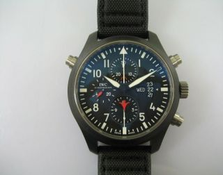 Iwc Pilot ' S Dopple Chronograph Edition Top Gun Ceramic Bild