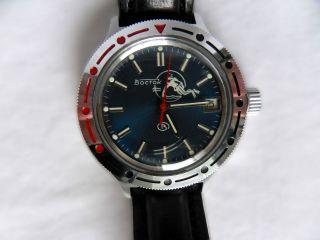 Boctok Russische Armbanduhr,  Handaufzug,  Ziffernblatt Blau,  Uhr,  Russisch Bild