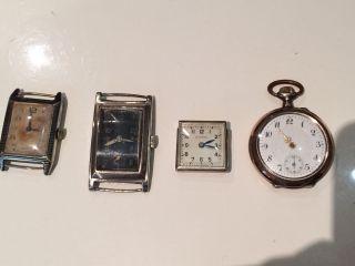 Konvolut Uhren Eterna Usw.  In Silber 935er 925er 800er Formwerk Antik Bild