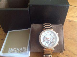 Michael Kors Armbanduhr Rose Gold Strass Style Bild