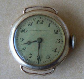 Iwc Gold 14k Cal.  84 Uhr Von 1921 Bild