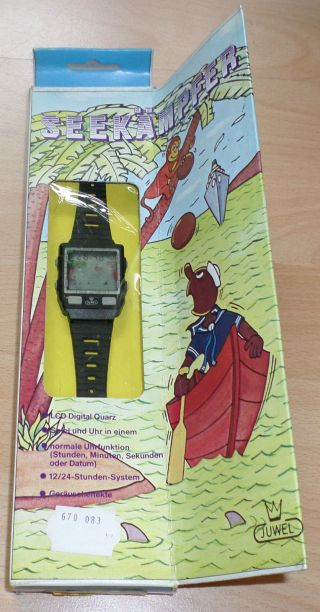 Juwel P - 72295 Seekämpfer In Ovp Boxed Nos Wrist Watch Game Uhr Piratron Bild
