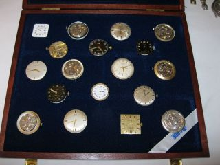 18 Uhrenwerke Konvolut Cartier - Dugena - Anker - Arctos - Roamer - Certina - Bild