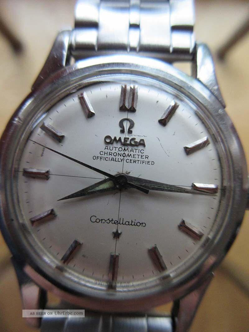 Omega Constellation Chronometer,  Kal.  505,  Originalzustand Armbanduhren Bild
