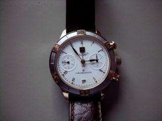Russische Uhr Handaufzug Poljot Chronograph 3133 - Limitiertes Modell Columbus Bild