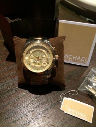 Michael Kors Uhr 8098 Xl Chronograph Gold Und Silber 3 Wochen Alt Bild