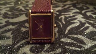 Cartier Tank - Must De Cartier - Medium Unisex 925silber/vergoldet - Quartz Bild
