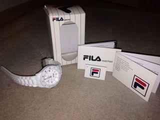 Fila Watches Armbanduhr Weiß Wasserfest Uhr Bild