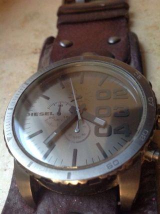 Diesel Uhr Dz 4273 Armbanduhr Lederarmband Chronograph Quarz Bild