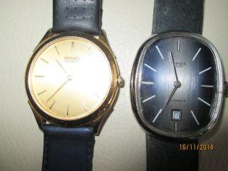 Herrenarmbanduhren Seiko / Timex Bild