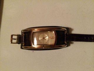 Dkny Uhr Leder Schwarz Gold Schelle Uhr Sehr SchÖn AuffÄlig 189€ Bild