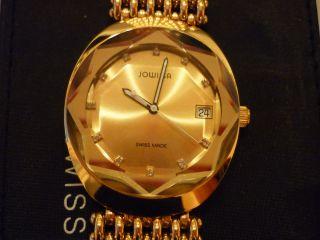 Herrenarmbanduhr Von Jowissa Mit Edelstahlarmband Goldfarben Bild