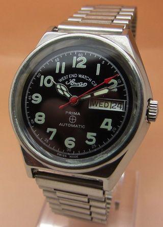 West End Watch Sowar Prima Mechanische Automatik Uhr Tages - Und Datumanzeige Bild