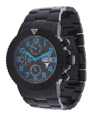 Ingersoll Automatik Armbanduhr Bison No.  47 In1304bkbl Schwarz Edelstahl Bild
