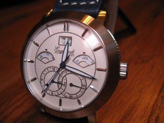 Engelhardt Automatik Uhr Kaliber 10.  360 Zwei Zeitzonen Kalender Bild