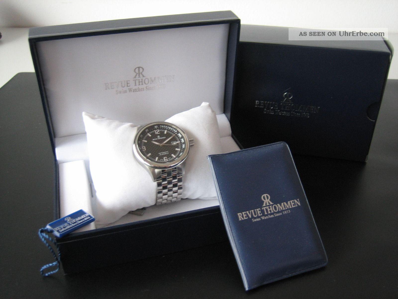 Revue Thommen - Pilot Professional - Automatik - Stahl,  44 Mm - Box Und Papiere Armbanduhren Bild
