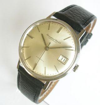 Vintage Iwc Herren Automatik Cal.  8541 Stahl Ca.  1960 Bild
