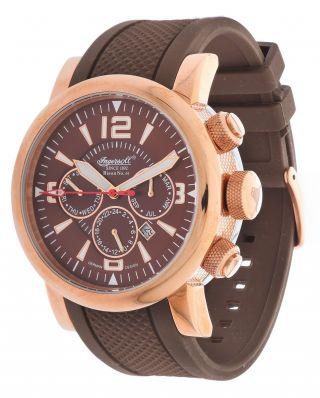 Ingersoll Herren Armbanduhr Bison No.  44 Limited Edition Braun In4109rbr Bild
